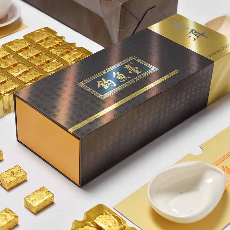 钓鱼台普洱茶熟茶小沱茶金砖茶叶礼盒装送礼送长辈