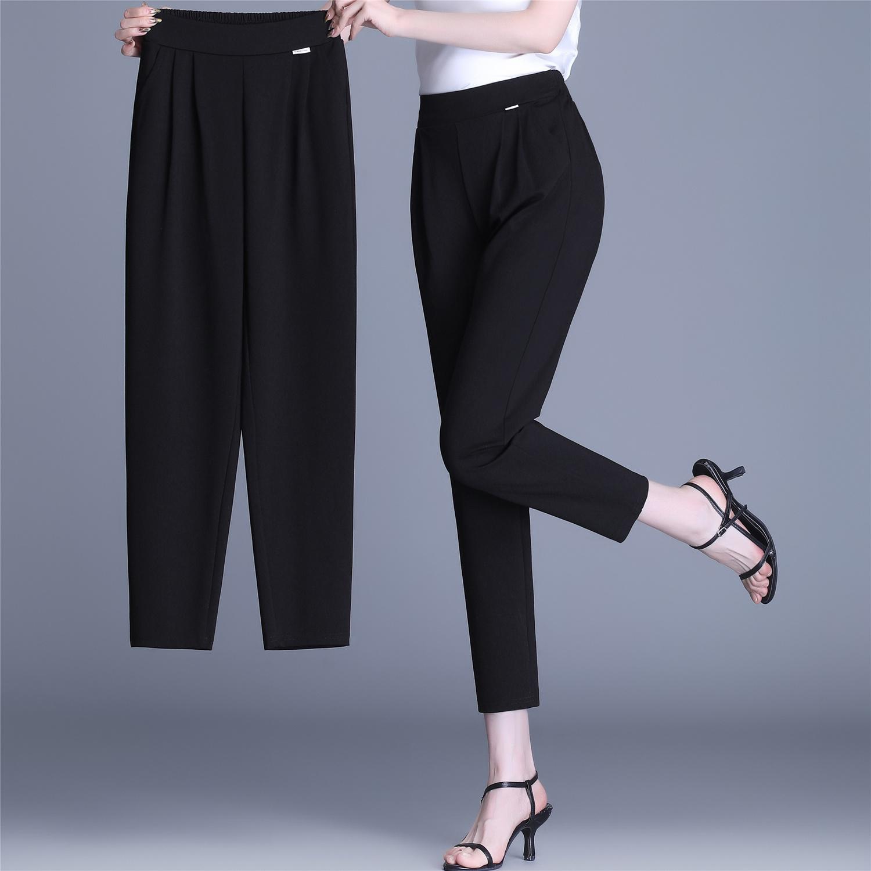 哈伦裤女夏季薄款宽松大码萝卜大码休闲长裤
