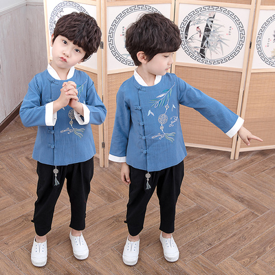 Boys Tang Suit for Kids Hanfu boy spring dress Tang suit children Chinese style suit