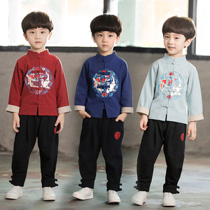 Boys Tang Suit for Kids BoysHanfu spring Tang suit children Chinese style suit boystraditional costume super immortal national costume
