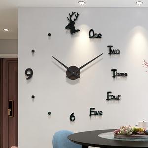 免打孔时钟表挂钟客厅