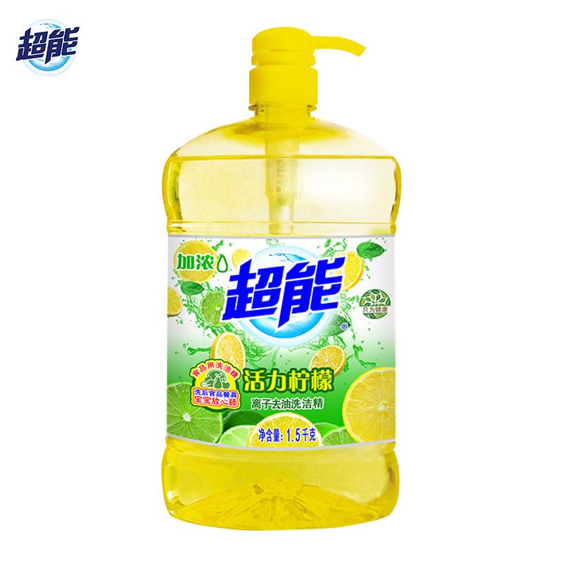 超能强力去污柠檬洗洁精大瓶3斤家庭实惠装
