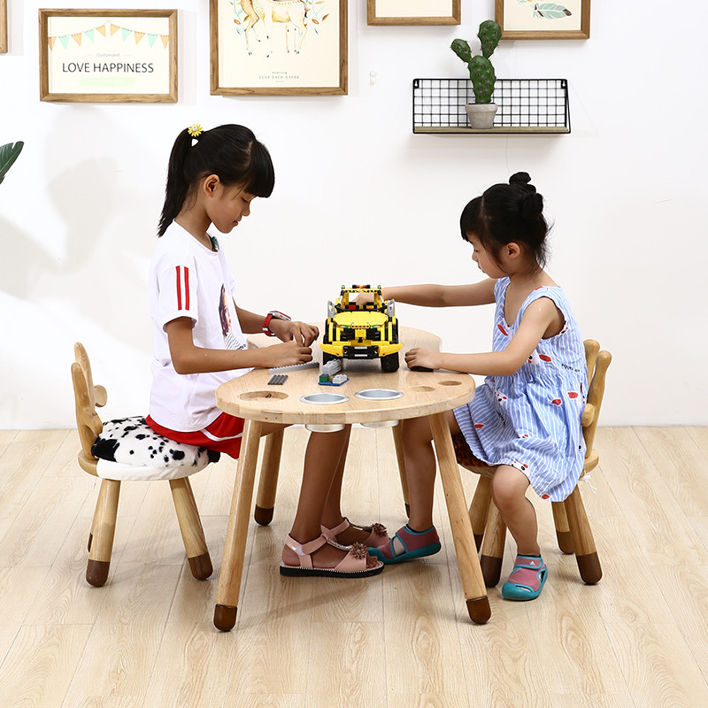 Ghế băng nhỏ cho trẻ em trò chơi bàn ghế kết hợp mẫu giáo ghế trẻ em tựa lưng dễ thương gỗ rắn trẻ em ghế động vật trẻ - Phòng trẻ em / Bàn ghế