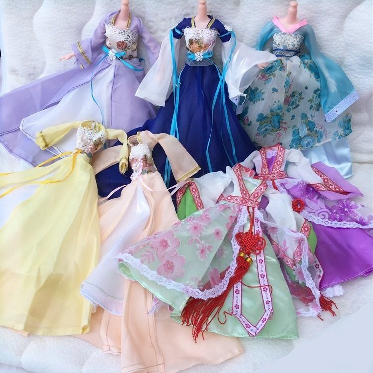 Váy công chúa cổ chơi nhà đồ chơi chaise búp bê quần áo trang phục đồ chơi quần áo cổ barbie cổ tích - Búp bê / Phụ kiện
