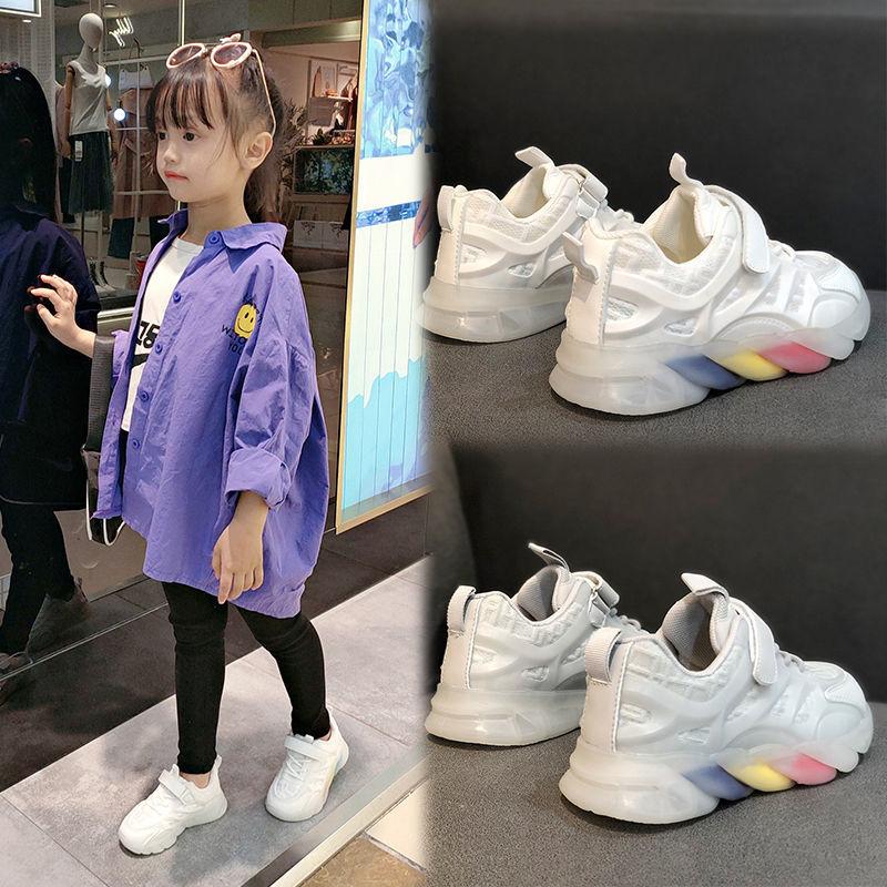 运动鞋女2021新款透气网面女鞋小孩子学生老爹鞋休闲男鞋小白女鞋