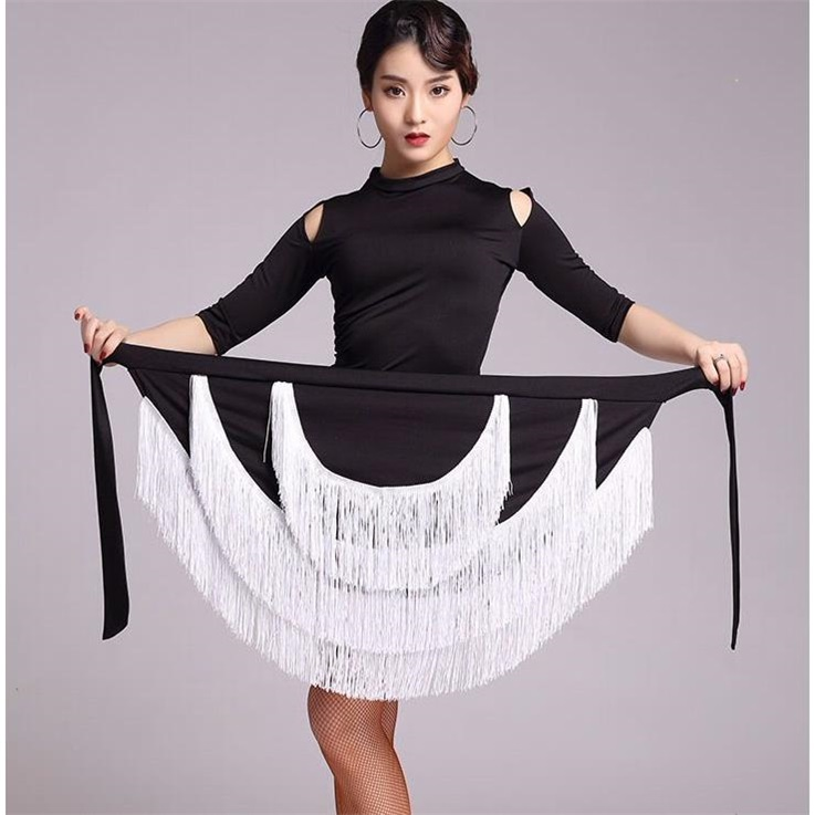 Váy khiêu vũ Latin dành cho nữ trưởng thành không thường xuyên Váy thời trang mới nhảy váy tua rua mùa xuân và mùa hè thực hành trang phục biểu diễn - Quần áo ngoài trời