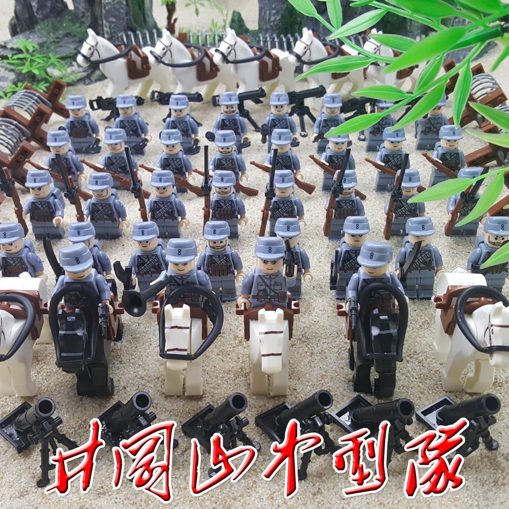 儿童拼装积木军事小人仔二战部队士兵人八路军日军男孩子玩具樂高