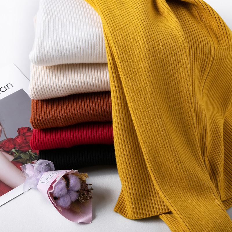 打底毛衣女2019新款时尚秋冬季洋气修身加绒紧身内搭半高领针织衫