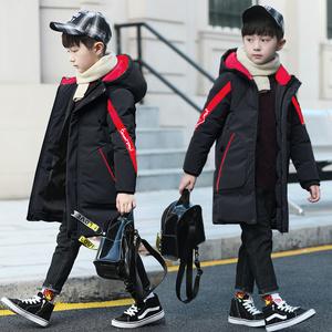 男童加绒加厚保暖棉服冬季中长款外套棉袄