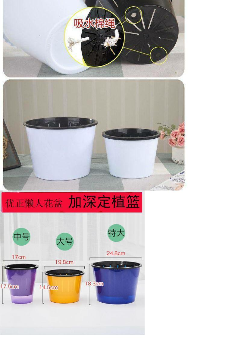 Thickening lazy automatic suction pot water ridging from other plastic imitation ceramic flower pot resin potted flower pot