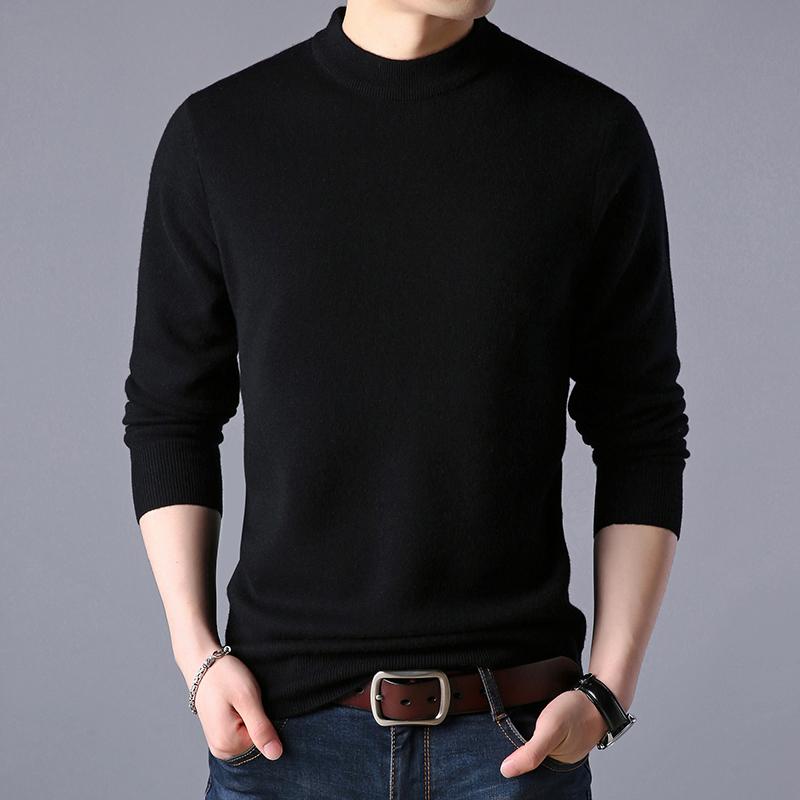 恒源祥同款男长袖t恤打底衫薄款针织衫毛衣