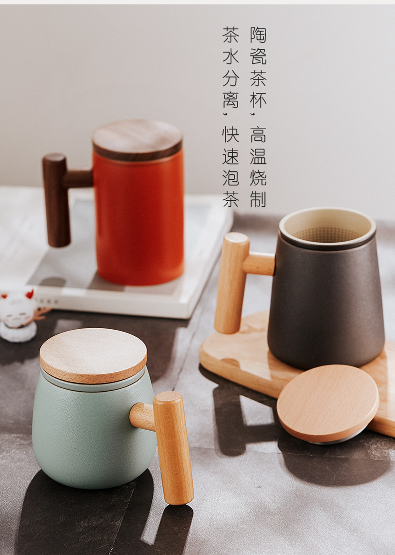 Separation Bincoo ceramic tea tea cup home office high - grade glass with cover filter personal single CPU
