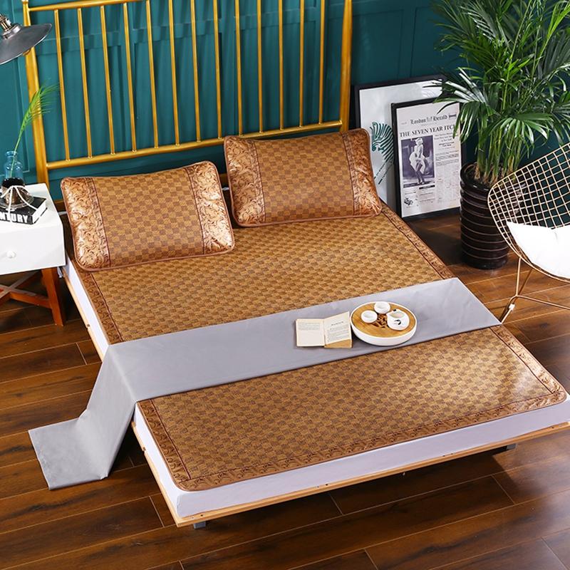竹席凉席家用1.8m床1.5米夏季冰丝席子双面藤席学生经典单竹凉席