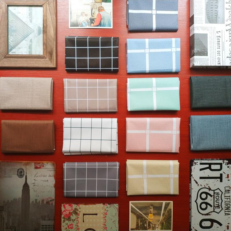 桌布PVC防水防油防烫免洗北欧简约现代格子塑料茶几台布家用ins