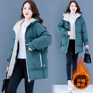羽绒棉服女中长款冬季2020新款韩版宽松加厚棉衣休闲女士棉袄外套