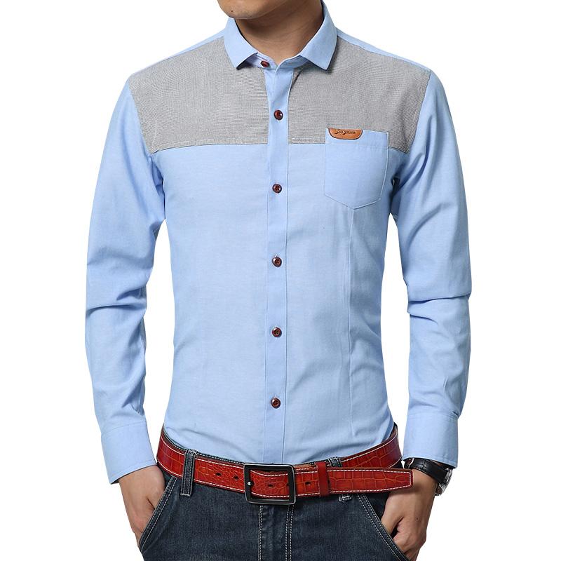 男士衬衫修身韩版春季时尚衬衫男长袖