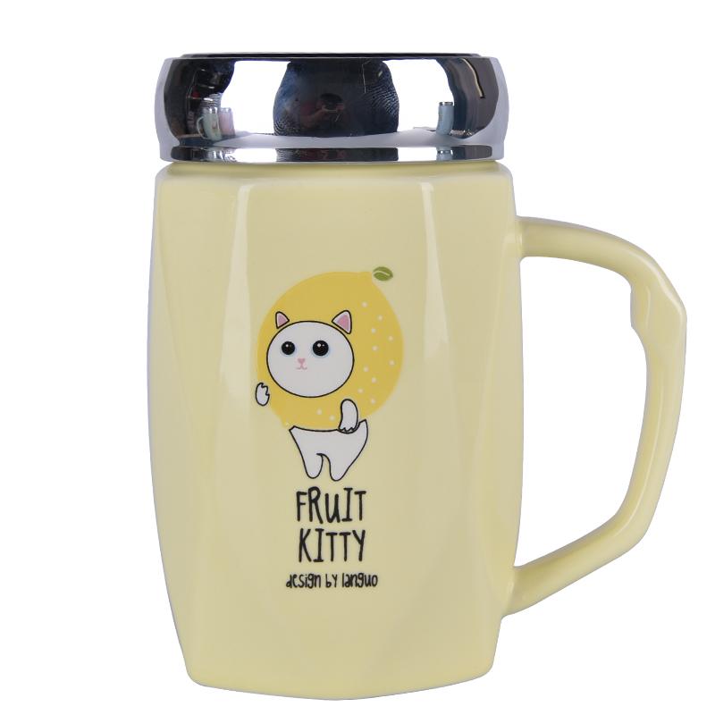 創意馬克杯帶蓋勺ins少女生咖啡陶瓷杯子超可愛水杯家用個性潮流