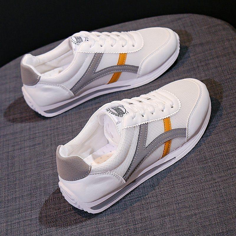 鞋子女2021新款运动鞋阿甘鞋学生韩版百搭轻便老爹鞋阿甘跑步网鞋