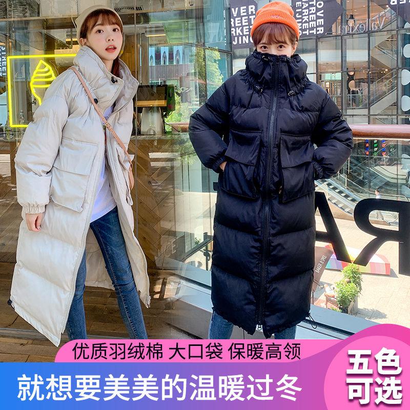 2020新款棉衣女中长款棉袄学生韩版宽松棉服女加厚外套面包服特卖