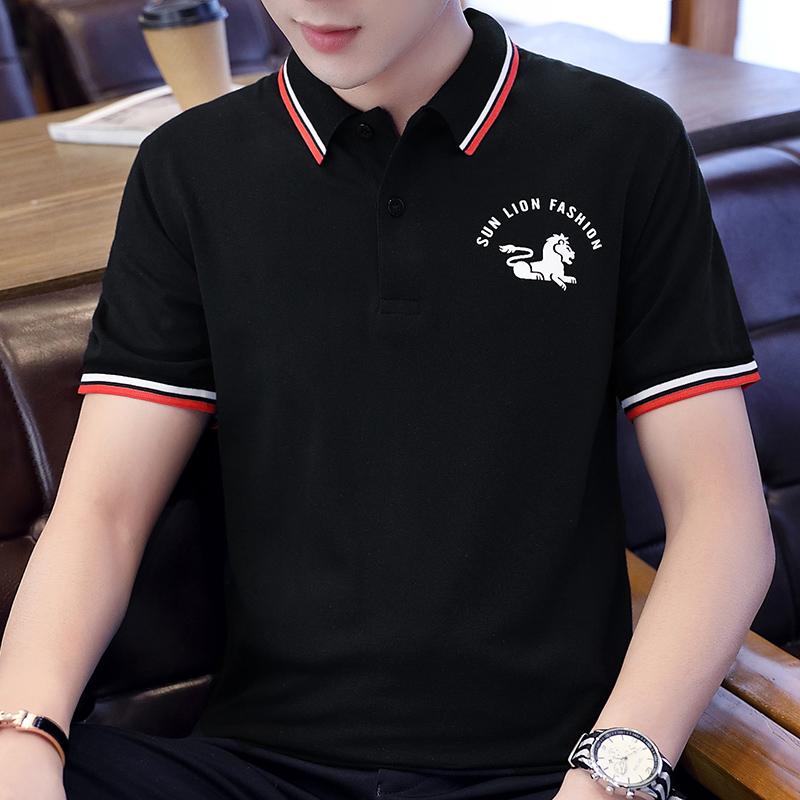 POLO衫男夏季短袖上衣2020新品男装休闲青年韩版修身男士短T恤男