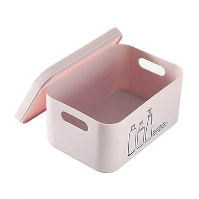 Small multifunctional skin care product box storage box small portable dressing table with lid, plastic cosmetics