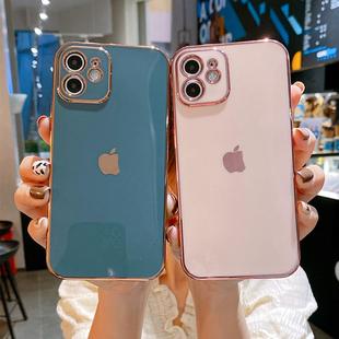 适用于苹果12手机壳电镀新款全包镜头