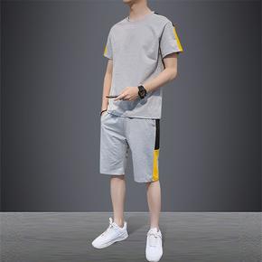 2020韩版潮流短裤T恤两件套休闲套装