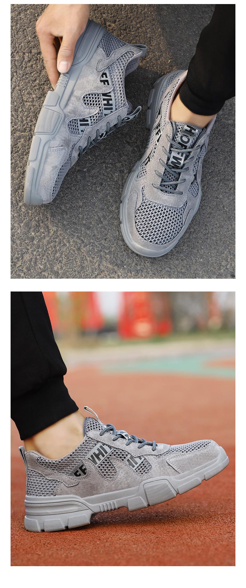bảo hiểm lao động giày nam hạng nhẹ mùa hè thở chống đập chống xuyên chống mùi mặc giản dị đáy mềm Baotou Steel an toàn