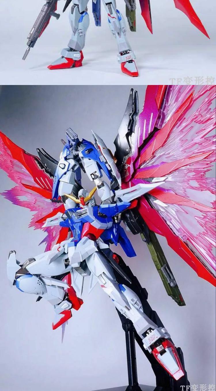 Gundam hoàn thành mô hình hợp kim đặt phòng miễn phí in lại MC số phận màu chính số phận màu sắc miễn phí phù hợp với ánh sáng - Gundam / Mech Model / Robot / Transformers