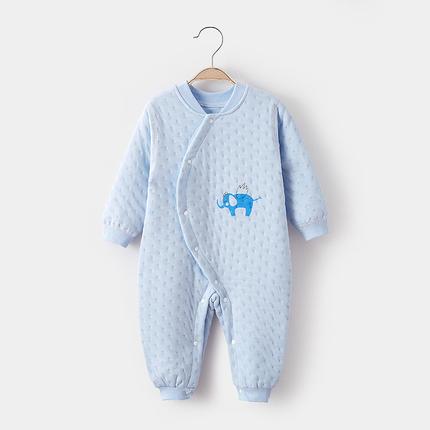 婴儿连体衣秋冬装加厚纯棉新生幼儿衣服保暖宝宝夹棉哈衣冬季爬服
