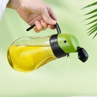【乐博乐博】自动开合油瓶玻璃家用油壶
