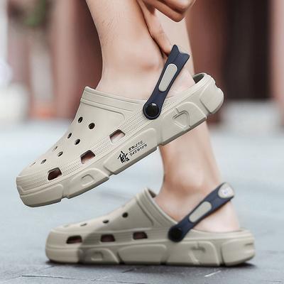 凉鞋洞洞鞋男夏季潮流外穿防滑软底包头户外凉拖鞋学生沙滩鞋女鞋
