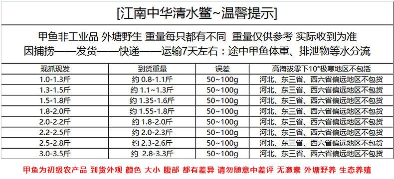 当天捕捞 无激素 400-500g 1-2年中华清水鳖 券后39.9元包邮 买手党-买手聚集的地方