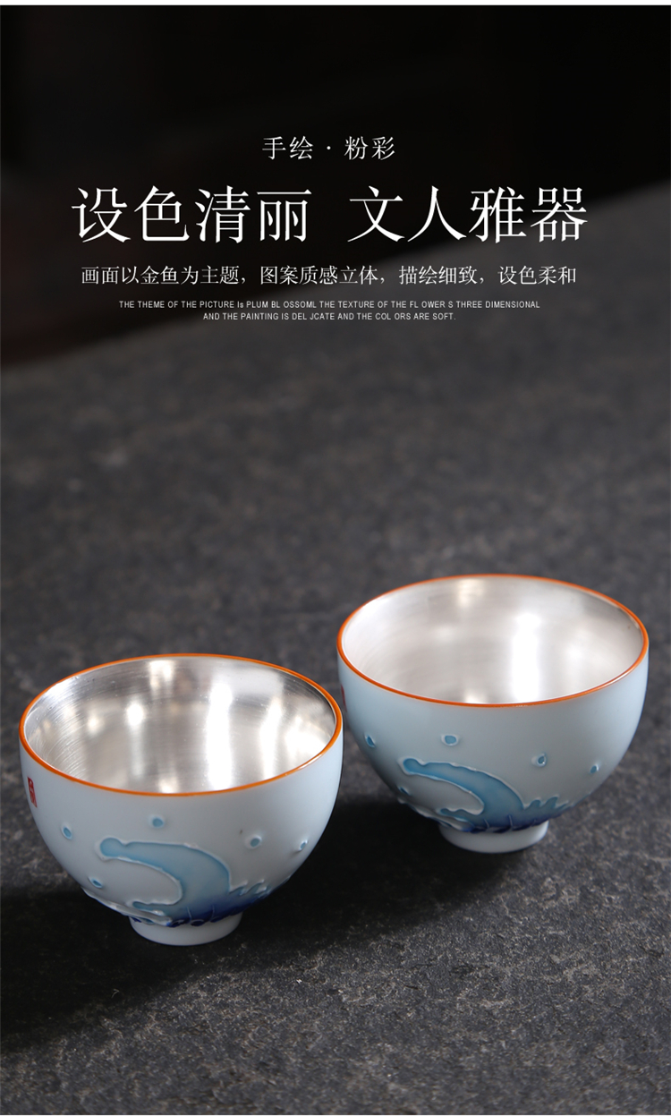 Hand made blue and white porcelain tea small kung fu tea set, ceramic cups, a single host CPU perfectly playable cup bowl sample tea cup