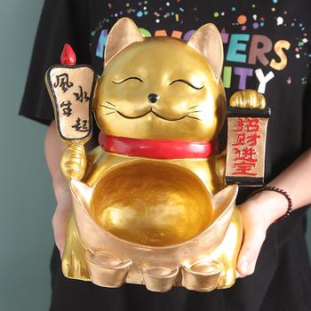Вход ключ хранение украшение современный простой ворота рот релиз ключ лоток домой гостиная счастливая кошка украшение открытый, цена 1189 руб