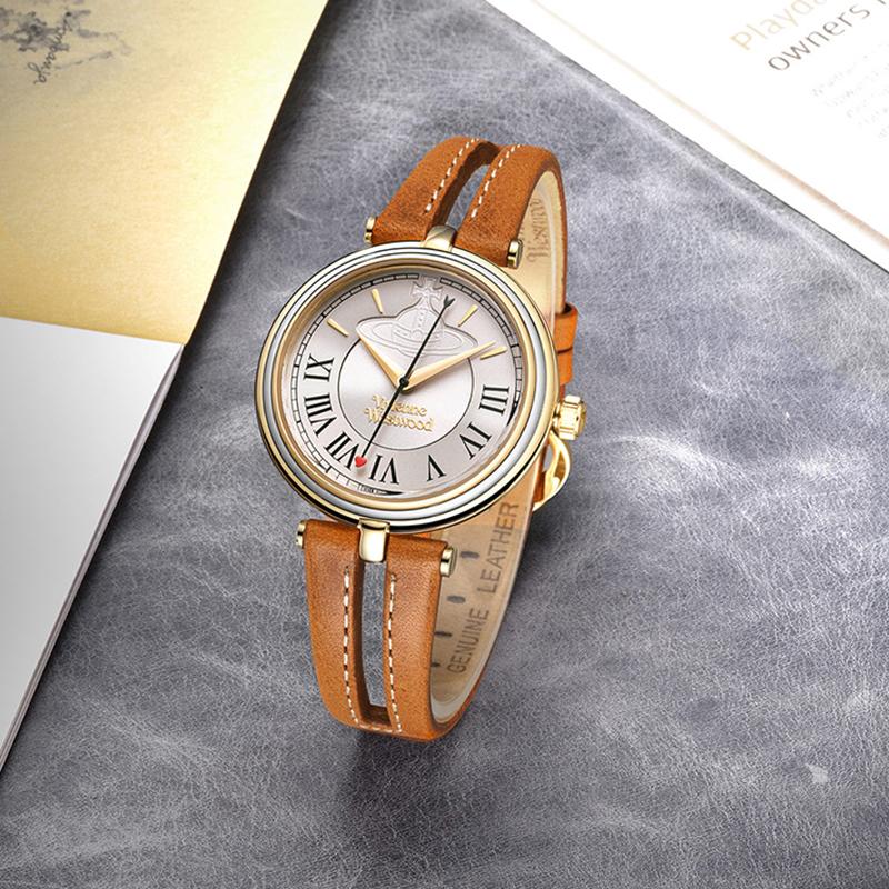 Vivienne薇薇安复古女表镂空皮带罗马刻度轻奢英国小众品牌手表