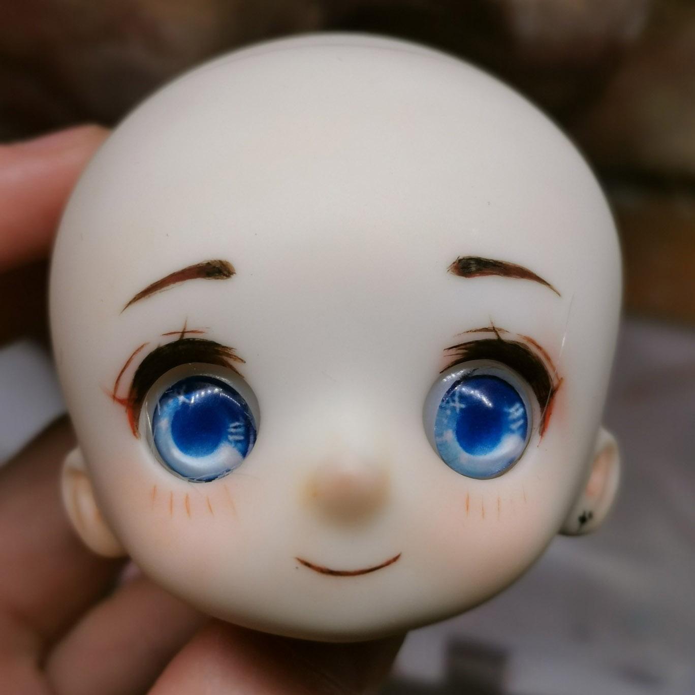 grayplumage/sd/bjd6分女娃练化画妆单素头素体(沐沐