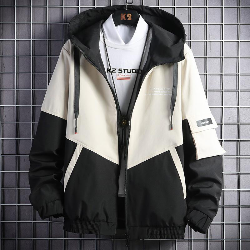 男士春秋外套夹克棒球服工装服男装