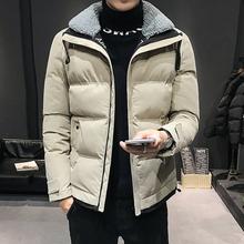 棉衣男冬外套男棉袄工装羽绒棉服连帽
