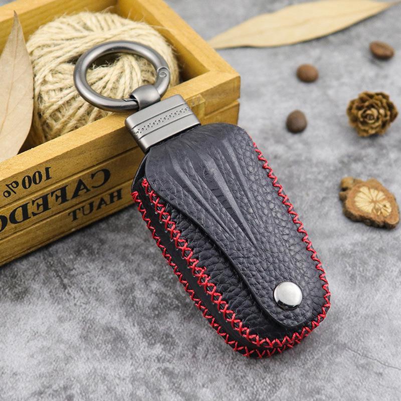 Thiết kế ban đầu chìa khóa xe ô tô lớp đầu tiên da bò tay khâu túi chìa khóa xe nam và nữ cặp vợ chồng phổ khóa - Trường hợp chính