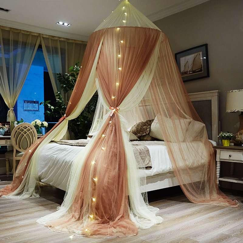 Trang trí phòng trẻ em công chúa gió gạc cô gái trái tim rèm phòng ngủ đầu giường võng trang trí tường treo gạc hàng đầu l tài khoản - Bed Skirts & Valances