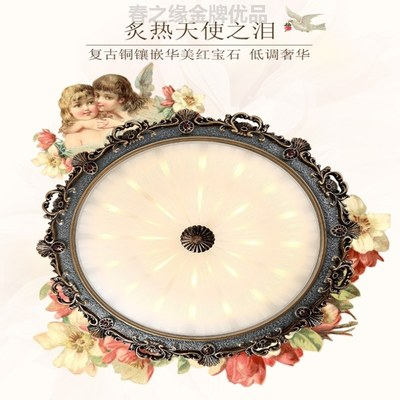 Creative corridor sun room led round American country ceiling lamp atmosphere fitting room model room second bedroom meeting