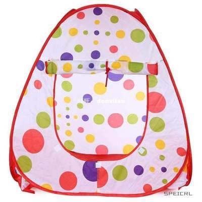 New Lovely Polka Dots Children Folding Tent Portable Toy Hou