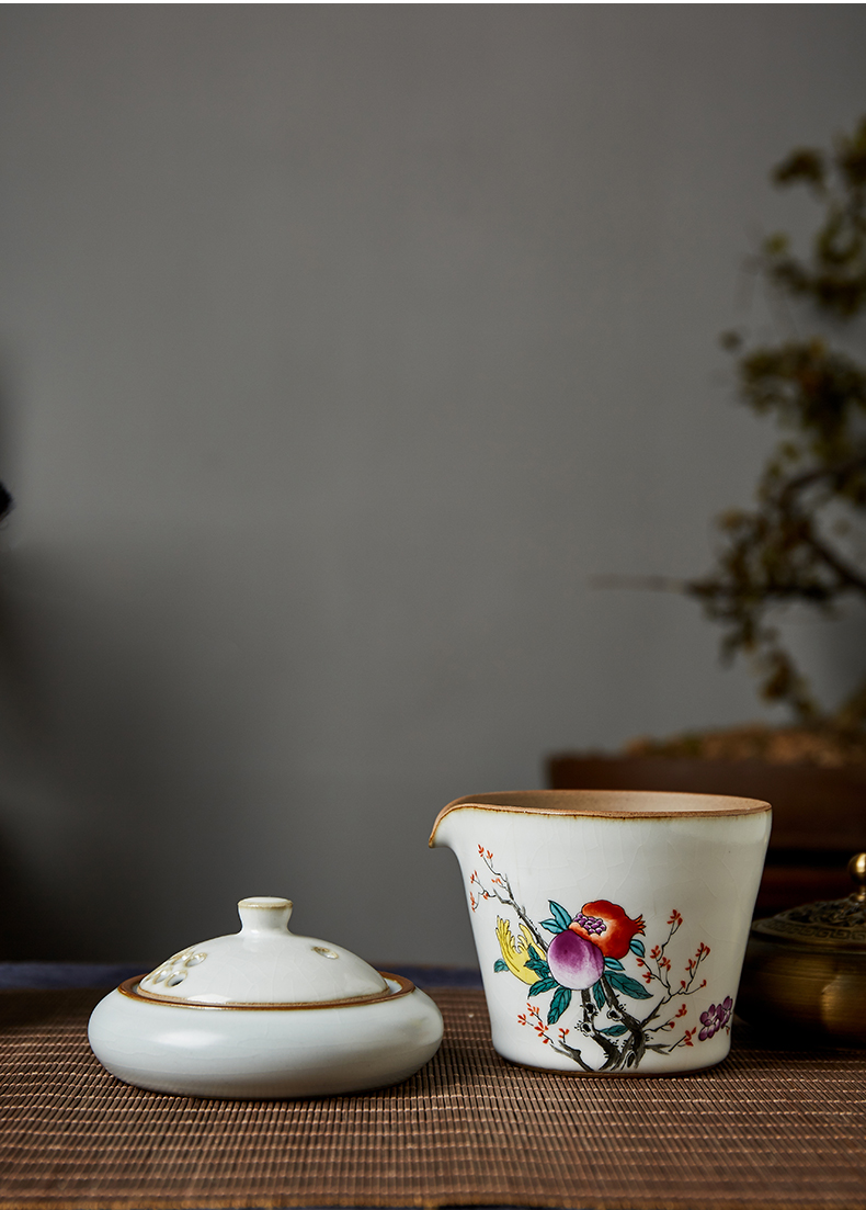 Shot incarnate your up hand - made sanduo lid saucer jingdezhen ceramic kung fu tea set fittings can have a cup of Joe