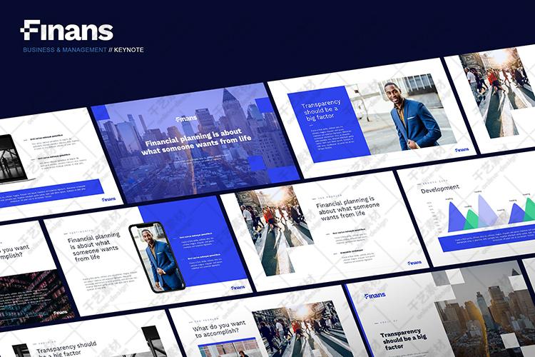 蓝色ppt模板团队教学公司介绍商业计划书数据图表插图(6)