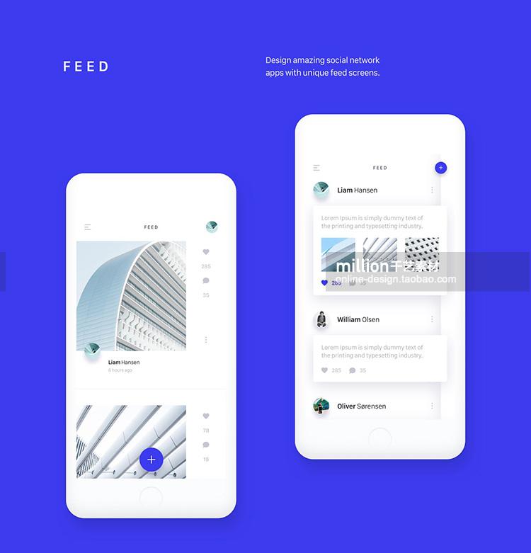 手机app制作模板ps素材扁平化社交媒体电子商务作品展示 psd新款插图(32)