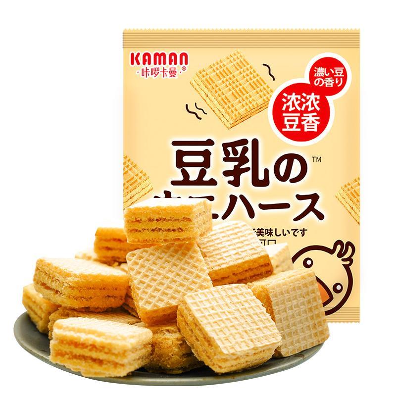 【咔啰卡曼】日本风味豆乳威化饼干