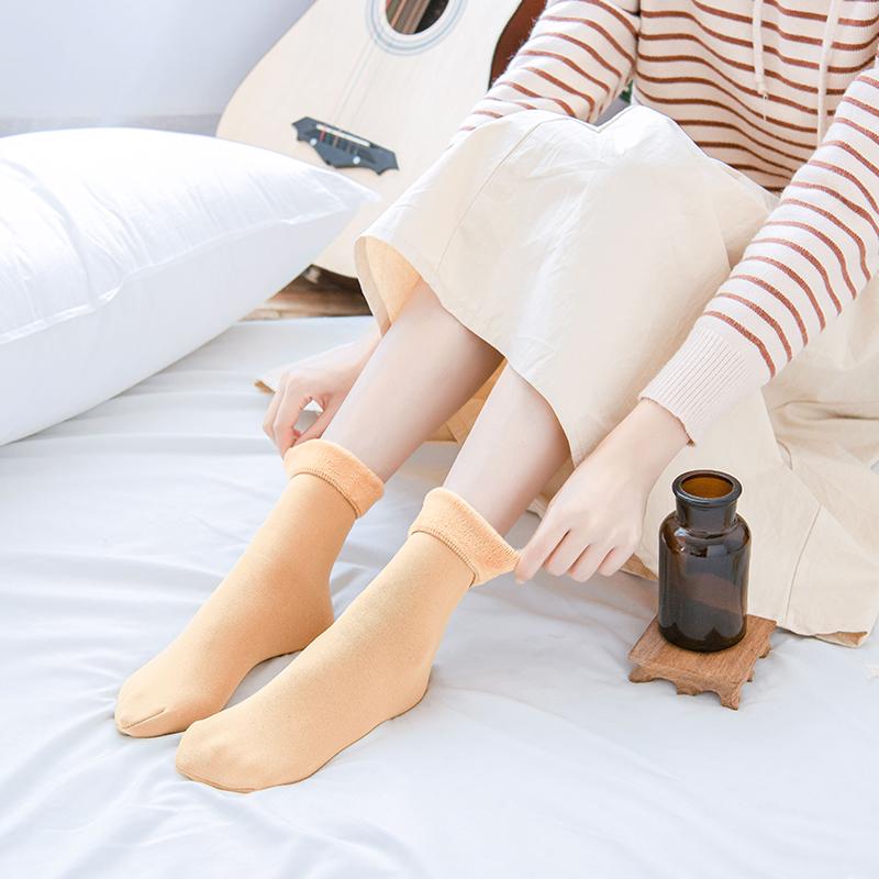 (过期)卡芭伦旗舰店 【卡芭伦】加绒加厚中筒雪地袜3双 券后8.9元包邮