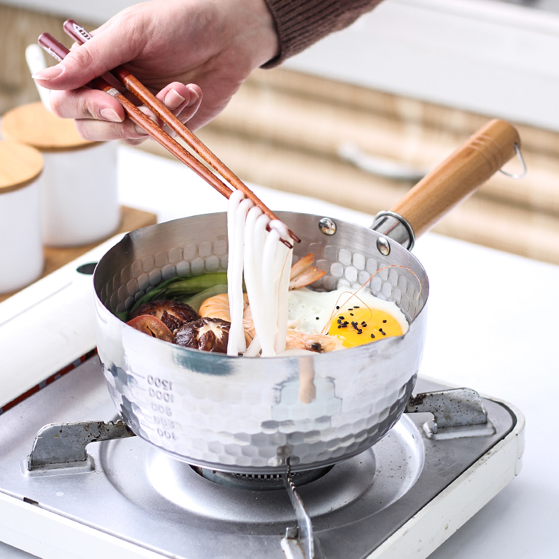 日本雪平锅不锈钢小奶锅小锅日式锅小煮锅