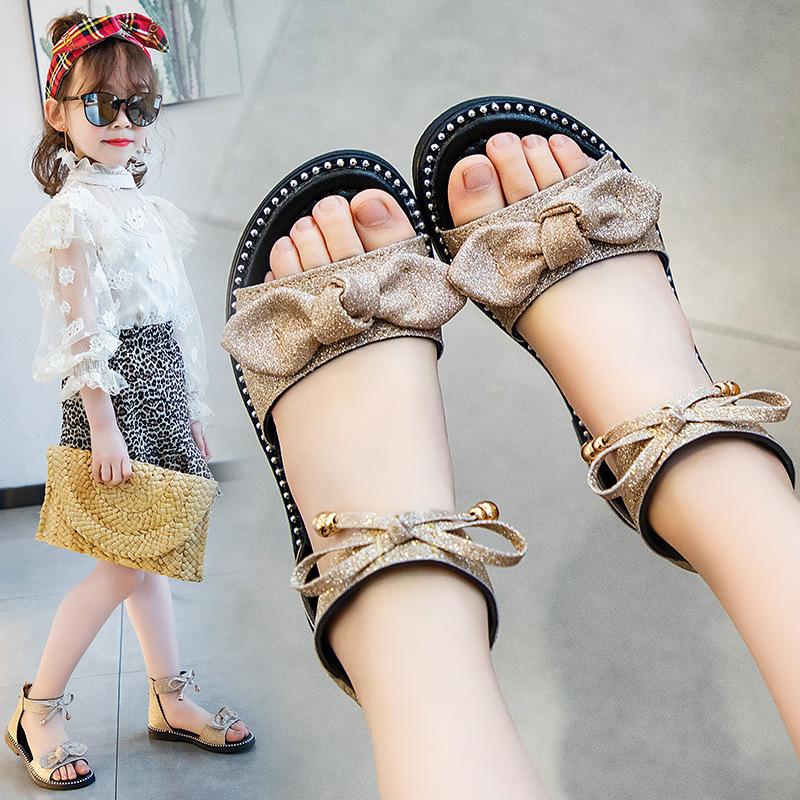 2020新款夏季女童凉鞋罗马民族风流苏时尚儿童女孩软底小公主童鞋